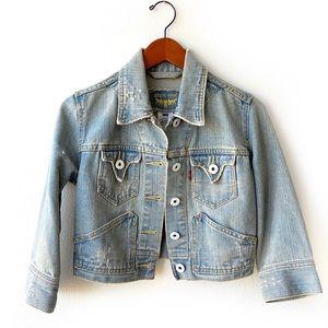Vintage Levi's Cropped Distressed Denim Jacket